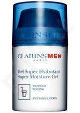 Clarins Men Super Moisture gelis, kosmetika vyrams, 50ml