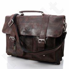 PAOLO PERUZZI ruda odinė rankinė vintažinė GA19