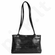 DAN-A T61 juoda rankinė iš natūralios odos , moteriška