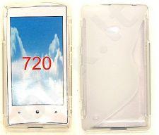 Nokia 720 Lumia dėklas SILICON Telemax baltas permatomas