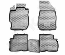 Guminiai kilimėliai 3D NISSAN Almera 2012-2016, 4 pcs. /L50013G /gray