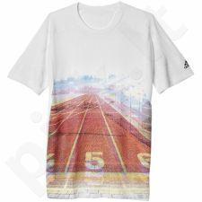 Marškinėliai treniruotėms Adidas Sideline Allover Print M S93313