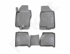 Guminiai kilimėliai 3D NISSAN Navara 2010-2015, 4 pcs. /L50038G /gray