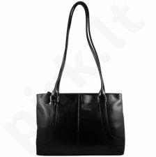 DAN-A T77A juoda rankinė iš natūralios odos , moteriška