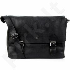 DAAG Funky Go! 14 juoda odinė rankinė nešiojamam kompiuteriui unisex