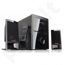 Microlab M-700U 2.1 Speakers/ 46W RMS (14Wx2+18W)/ Remote/ FM Radio/ USB, SD Card Slots/ Plays MP3, Radio without PC