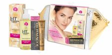 Dermacol 3D Hyaluron Therapy, rinkinys prausimosi aliejus moterims, (Cleansing Facial Oil 150 ml + Make-Up Cover SPF30 30 g 210 + kosmetika krepšys)