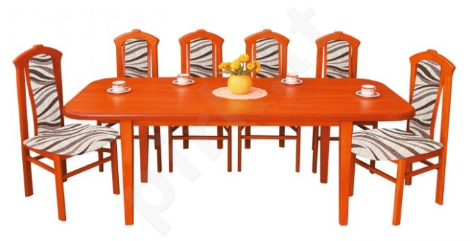 Stalas S90 + 6 kėdės K70