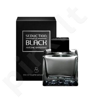 Antonio Banderas Seduction in Black, tualetinis vanduo (EDT) vyrams, 100 ml