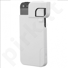 Quick Flip Case for iPhone 4/4s + Pro Photo Adapter (white)