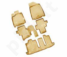 Guminiai kilimėliai 3D NISSAN Pathfinder 2014-> 5 pcs. /L50053B /beige