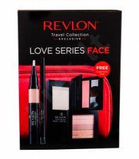 Revlon Prime + Anti Shine, Photoready, rinkinys makiažo pagrindas moterims, (Primer 14,2 g + Brightener 7,5 g 020 Rose Glow + Corrector 2,4 ml + skaistalai 5 g 008 Racy Rose + akių kontūrų pieštukas 0,28 g Black + kosmetika krepšys)
