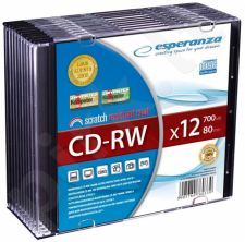 CD-RW ESPERANZA [ slim jewel case 10 | 700MB | 12x ]