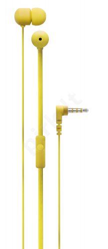 Ausinės su mikrofonu Degauss SPKRS(geltona)
