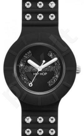 Laikrodis HIP HOP - CRYSTAL BLACK TIE