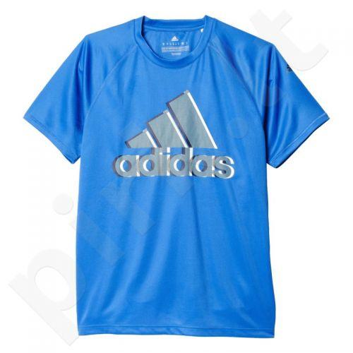 Marškinėliai treniruotėms Adidas Base Plain Tee Logo M AY7323