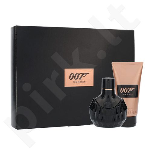 James Bond 007 James Bond 007, rinkinys kvapusis vanduo moterims, (EDP 30ml + 50ml dušo želė)