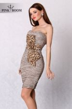 3102-1 MPliusuota suknelė ruda