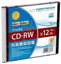CD-RW ESPERANZA [ slim jewel case 1 | 700MB | 12x ]