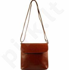 DAN-A T47 konjako spalvos rankinė iš natūralios odos , moteriška