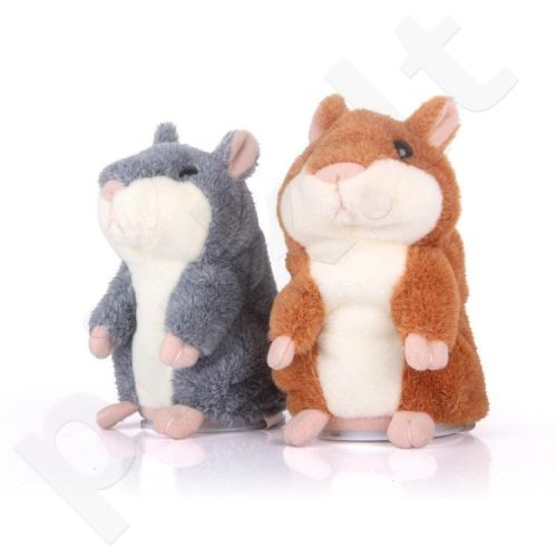 Žaislas ne tik vaikams! Minkštas kalbantis ir judantis žiurkėnas! (Dydis - 15 cm)