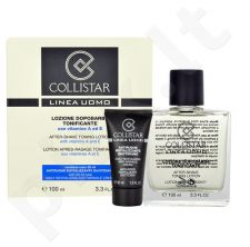 Collistar Men After-Shave valomasis losjonas rinkinys vyrams, (100 ml After-Shave Tonin Lotion + 30 ml Anti-Wrinkle kremas)