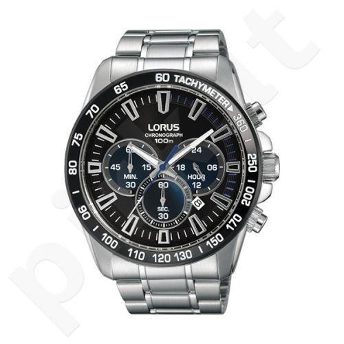 Laikrodis LORUS  STAINLESS STEEL - kvarcinis - 45 mm - - STOP - chronografasgrafas - TACHYMETER