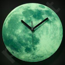 """Tamsoje šviečiantis laikrodis """"Mėnulis"""""""