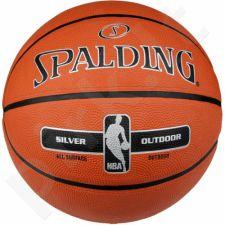 Krepšinio kamuolys Spalding NBA Silver