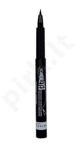 Rimmel London Scandal Eyes Precision Micro akių kontūrų priemonė atsparus vandeniui, kosmetika moterims, 1,1ml, (001 Black)