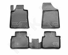 Guminiai kilimėliai 3D NISSAN Teana III 2014->, 4 pcs. /L50001G /gray