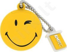 Atmintukas Emtec 8GB USB2.0 ''Take it easy'' Smiley World Geltonas
