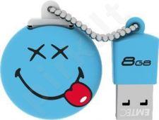 Atmintukas Emtec 8GB USB2.0 ''Happy days'' Smiley World Mėlynas