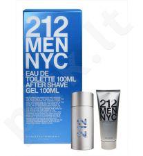 Carolina Herrera 212 NYC Men, rinkinys tualetinis vanduo vyrams, (EDT 100ml + 100ml losjonas po skutimosi želė)