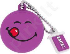 Atmintukas Emtec 8GB USB2.0 ''Yum Yum'' Smiley World Violetinis