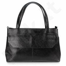 DAN-A T146 juoda rankinė iš natūralios odos , moteriška