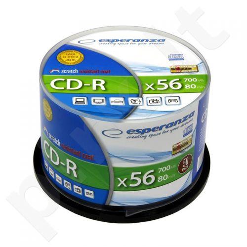 CD-R ESPERANZA [ cake box 50 | 700MB | 52x | Silver ]