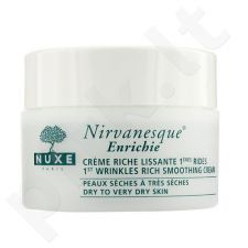 Nuxe Nirvanesque 1st Wrinkles Rich Smoothing kremas, kosmetika moterims, 50ml