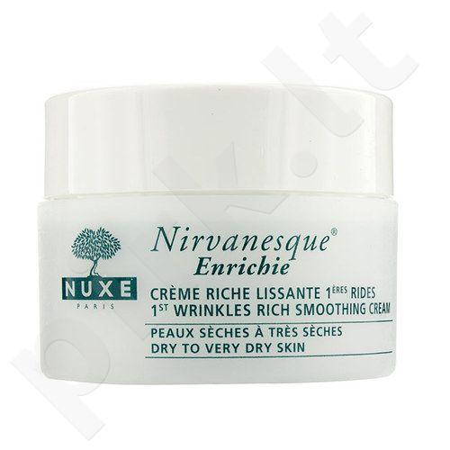 Nuxe Nirvanesque 1st Wrinkles Rich Smoothing kremas, kosmetika moterims, 50ml
