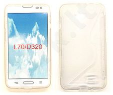 LG L65/L70 dėklas SILICON Telemax baltas permatomas