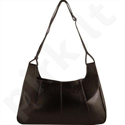 DAN-A T101 šokolado spalvos rankinė iš natūralios odos , moteriška