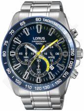 Laikrodis LORUS  STAINLESS STEEL - kvarcinis - 48X52 mm - - STOP - chronografasgrafas - TACHYMETER