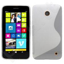 Nokia 630 Lumia dėklas SILICON Telemax baltas permatomas