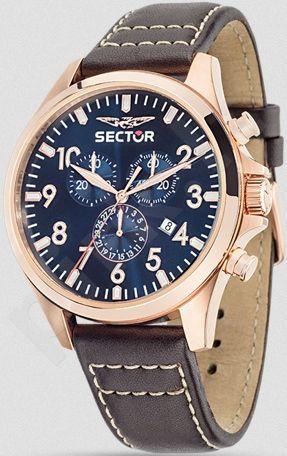 Laikrodis SECTOR   180 Chr Blue Dial Brown Strap