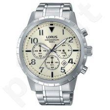 Laikrodis LORUS  STAINLESS STEEL - kvarcinis - 45X52 mm - - STOP - chronografasgrafas