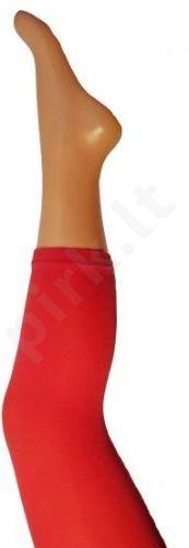 Vienspalvės raudonos spalvos tamprės iš mikrofibros 40 denų storio (dydžiai nuo 68 iki 158 cm)