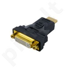 4World Adapteris HDMI [M] > DVI-I [F] (24+5), juodas