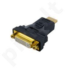 4World Adapteris HDMI [M] > DVI-I [F] (24+5), juodas