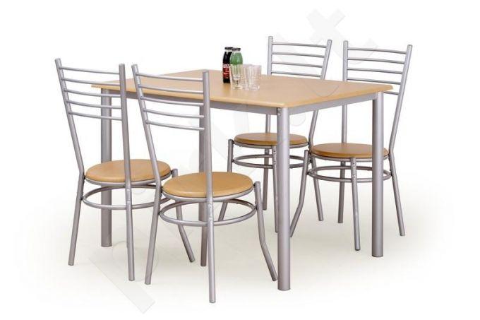 ELBERT komplektas: stalas + 4 kėdės