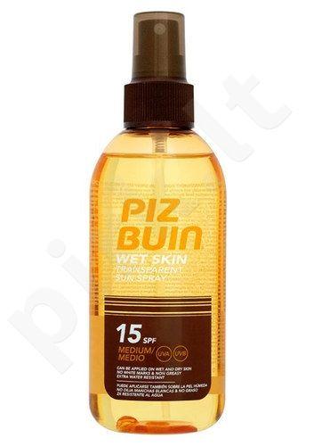 Piz Buin Wet Skin Transparent Sun purškiklis SPF15, kosmetika moterims, 150ml